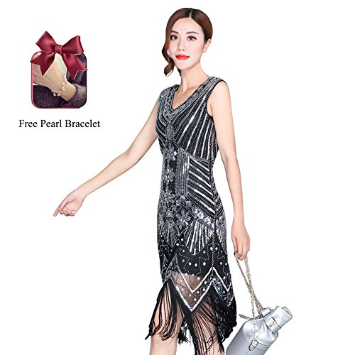 1920s Flapper Dress for Girls Fringe Prom Beaded Classic Prom Party Dresses