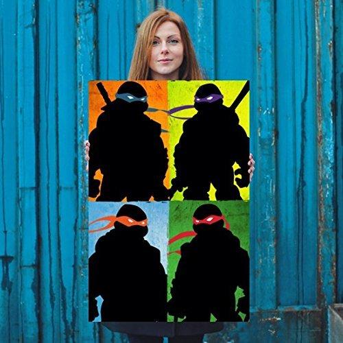Team Ninja TMNT Artwork poster: Amazon.es: Handmade