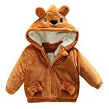 Newborn Winter Warm Coat,Jchen(TM) Fashion Baby Infant Boy Autumn Cute Cartoon Ear Hooded Coat Cloak Jacket Thick Warm Clothes for 0-24 Months (Age: 6-12 Months, Yellow)