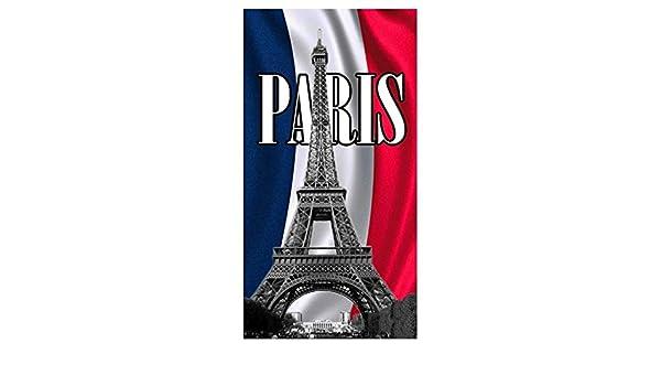 Toalla de playa Torre Eiffel Paris Toalla Rizo terciopelo ...