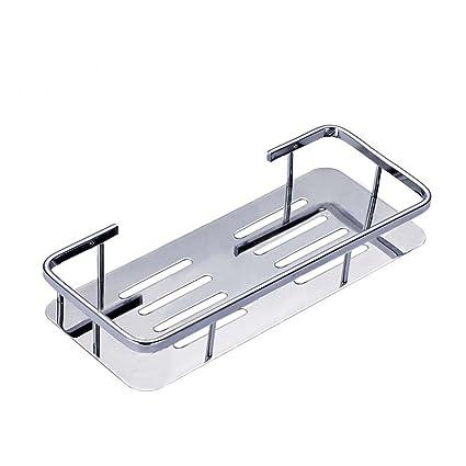 Foccoe estante de acero inoxidable baño cestas rectangular estante de almacenamiento de pared estante para cocina/baño