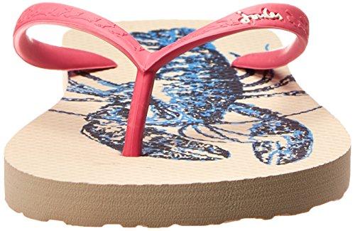 Joules U_Sandy, Women's Flip Flop Bright White Lobster
