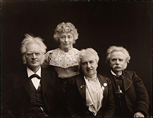 Poster Bjornstjerne Bjornson og Karoline sammen med Nina Edvard Grieg 1903 Norway Wall Art