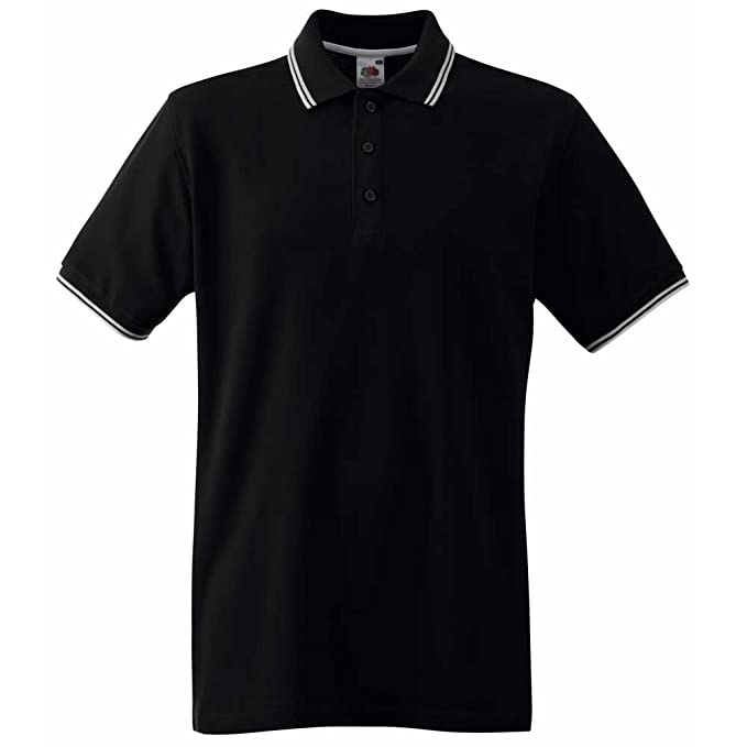 04d150a4269a Fruit of the Loom Men s Tipped Premium Polo Shirt  Amazon.co.uk ...