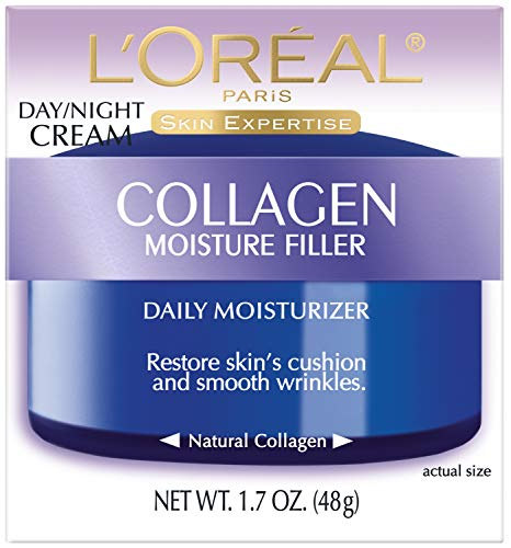 51FWqPFUNdL - Collagen Face Moisturizer by L'Oreal Paris Skin Care I Day and Night Cream I Anti-Aging Face Cream to Smooth Wrinkles I Non-Greasy I 1.7 oz.