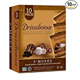 Drizzilicious Crunchy Drizzle Bites with Rice, Chia, Quinoa & Flax 10 pack (S'mores)