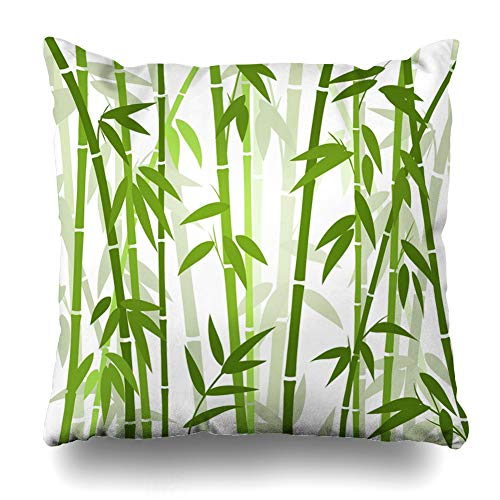 - LALILO Throw Pillow Covers, Bamboo Grass Oriental Wallpaper Tropical Asian Plant Double-Sided Pattern Sofa Cushion Cover Couch Decoration Home Gift Bed Pillowcase 20x20 inch