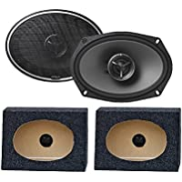 Kenwood Exelon KFC-X694 6X9 2 WayCar Speakers (1PAIR) 6X9PKB 6 X 9 Inches Angled/Wedge Box Speakers, Set of Two (Black)