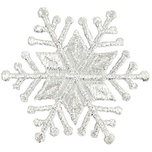 (Expo International Christmas Large Star Snowflake Iron-on Applique Trim Embellishment, Silver)