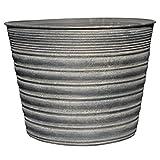 Vintage Gray Tin Planter