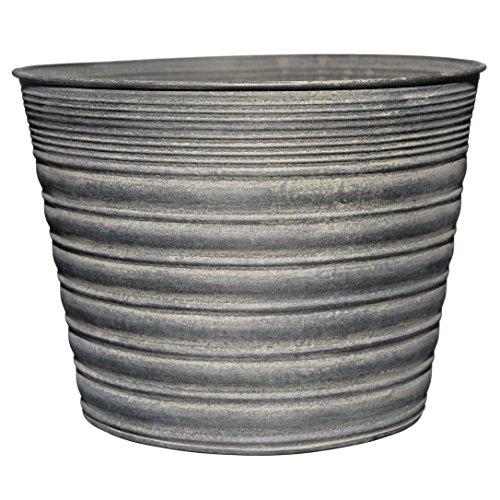 Vintage Gray Tin Planter (Indoor Metal Planters)