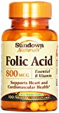 Sundown, Folic Acid 800 Mcg Tablets, 100 ct Review