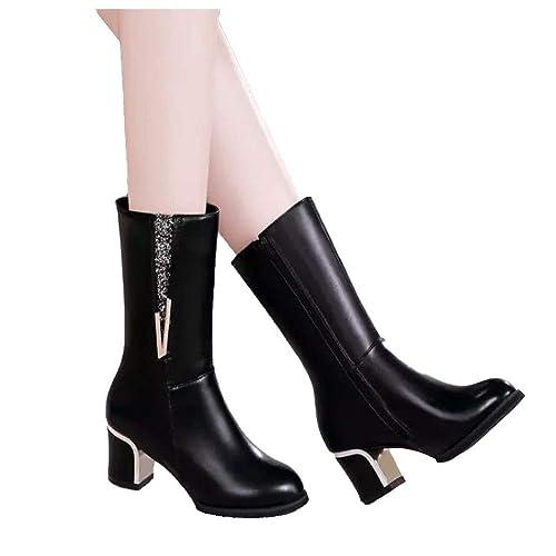 Un Inverno Matin amazon Neri shoes Donna neri Stivali d