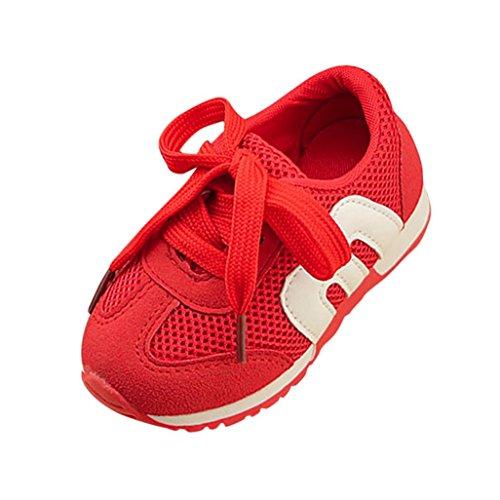 Para Bebés Zapatillas Antideslizante Zapatos De youth® Bebé Huecas Transpirables Niño K Malla Rojo Deporte wqUpUtR