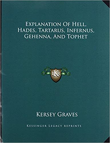 Book Explanation Of Hell, Hades, Tartarus, Infernus, Gehenna, And Tophet