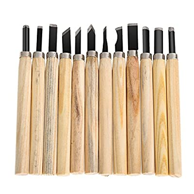 walid-12pcs/ lot Knife Woodcut DIY Tools for Carving wood Hand Wood Carving Tools Chisels