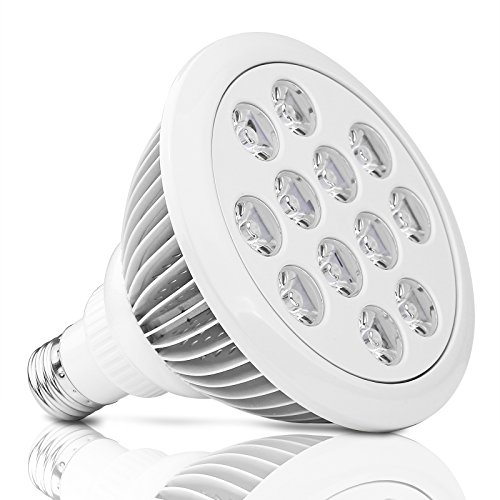 LED Grow Lights Sunsbell Plant Grow Lights 12W E27 Socket Growing Bulbs For Hydropoics Greenhouse Organic (White)