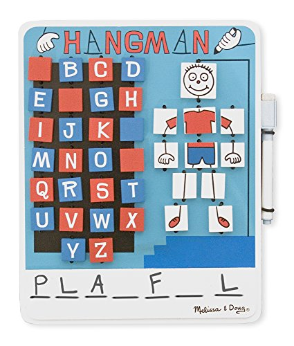 Melissa   Doug Flip To Win Travel Hangman Game   White Board  Dry Erase Marker