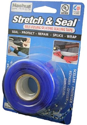 Polyken 1113517 Stretch and Seal Self Fusing Silicone Sealing Tape, 1-Inch x 10-Feet, Blue by Polyken