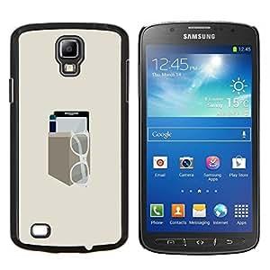 Qstar Arte & diseño plástico duro Fundas Cover Cubre Hard Case Cover para Samsung Galaxy S4 Active i9295 (Minimalista bolsillo Gear)
