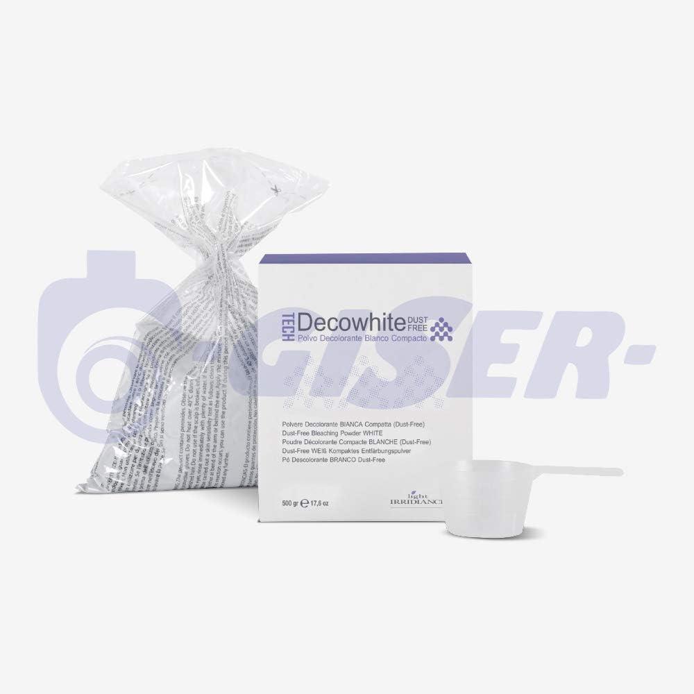 Light Irridiance Tech Decowhite Dust Free - Polvo decolorante blanco compacto 500gr: Amazon.es: Belleza