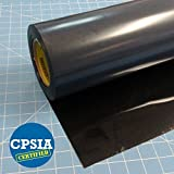 Siser Easyweed Iron on Heat Transfer Vinyl Roll HTV - Black - 15''x10'