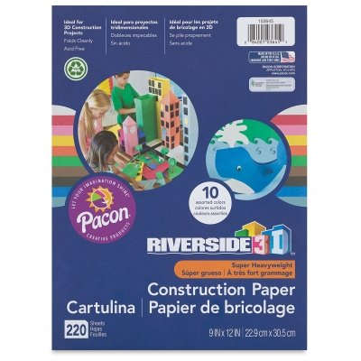 Riverside Groundwood Construction Paper, 100% Recycled, 18