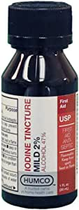 Iodine Tincture First Aid Antiseptic-2% USP, by Humco - 1 Oz