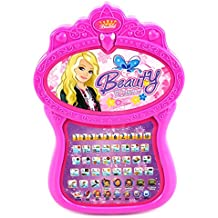 Beauty Princess Bilingual English/Spanish Multimedia Learning System Children's Toy Computer Tablet w/ 5 Quiz Modes, Learn & Play (Colors May Vary)