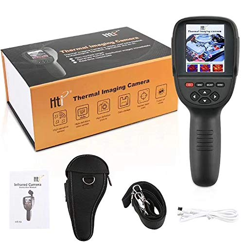 Thermal Lcd - Professional Mini LCD Digital Handheld Thermal Imaging Infrared Thermometer Image Resolution 220X160Built-in Switchable Color Palette with Data Storage Function,(HT-18)