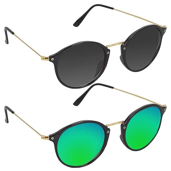 063684157 Hipe Eagle Blue Multicolour Metal Polycarbonate Cellulose Acetate Unisex Aviator  Sunglasses - Hi14: Amazon.in: Clothing & Accessories