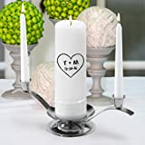 Personalized Wedding Unity Candle - Personalized Unity Candle Set - Heart of Love