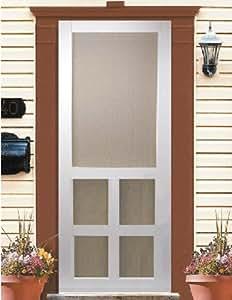 Kimberly bay victoria 30 in white vinyl screen door for Vinyl storm doors