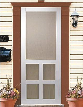 White Vinyl Screen Door & Kimberly Bay Victoria 30 in. White Vinyl Screen Door - Wooden Screen ...