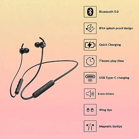 Philips Bluetooth In Ear Kopfhörer E1205bk Elektronik