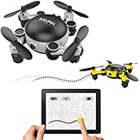 LOHOME MINI Foldable RC Drone - First-Person View (FPV) Unmanned Aerial Vehicle (UAV) 2.4GHz 6-Axis Gyro 4CH Quadcopter Wifi Remote Control Aircraft 720P HD Camera Gravity Sensor Helicopter