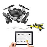 Cheap LOHOME MINI Foldable RC Drone – First-Person View (FPV) Unmanned Aerial Vehicle (UAV) 2.4GHz 6-Axis Gyro 4CH Quadcopter Wifi Remote Control Aircraft 720P HD Camera Gravity Sensor Helicopter