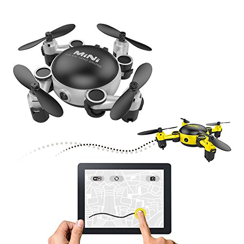 LOHOME MINI Foldable RC Drone – First-Person View (FPV) Unmanned Aerial Vehicle (UAV) 2.4GHz 6-Axis Gyro 4CH Quadcopter Wifi Remote Control Aircraft 720P HD Camera Gravity Sensor Helicopter Review