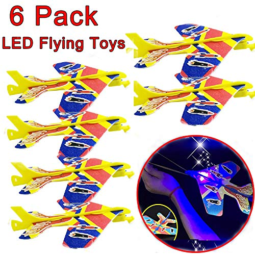 Selee Inc 6 Pack LED Airplane Toys