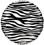 Kaleidoscope Zebra Print Foil Mylar Balloon, 5 Piece