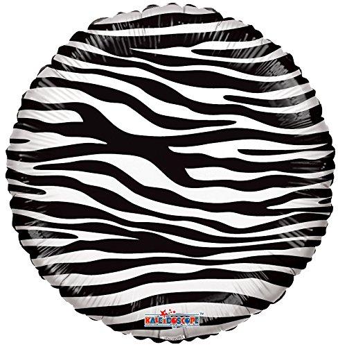 Kaleidoscope Zebra Print Foil Mylar Balloon, 5 Piece by Kaleidoscope