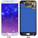 HJSDtech LCD Display Screen Touch Screen Digitizer Assembly Replacement for Samsung Galaxy A8/A8000 (White)