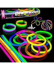 100 Glow Sticks Party Pack Premium Glowhouse Glow Stick Bracelets (Mixed) - UK Brand