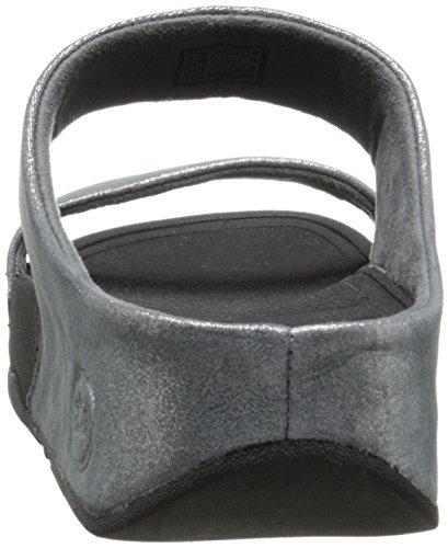 Fitflop Kvinder Lulu Shimmersuede Slide Sandal Tin KUm6viM08E