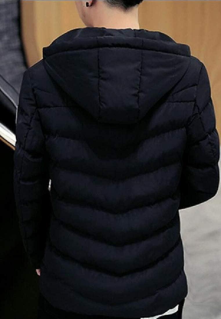 YONGM Mens Winter Hoodie Thicken Down Jacket Coat