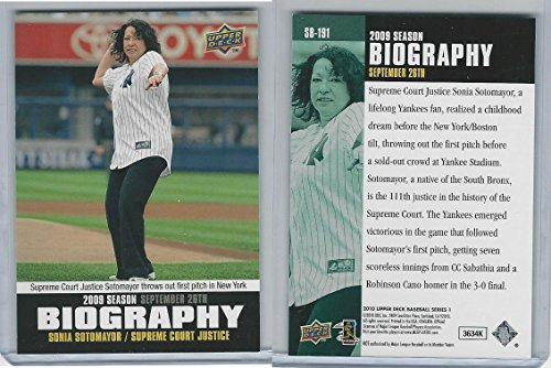 2010 Upper Deck, Biography, SB-191 Sonia Sotomayor, Supreme Court (Sb Supreme)