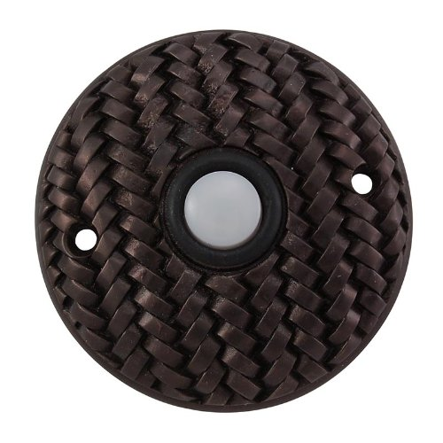 Vicenza Designs D4010 Cestino Round Style Doorbell, Oil-Rubbed Bronze