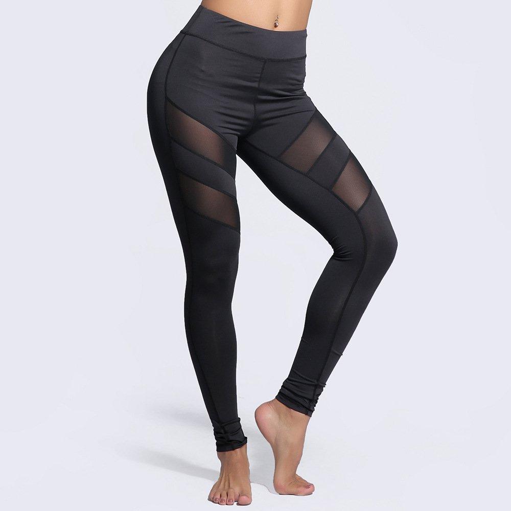 MAOYYMYJK Yoga-Hose Für Damen Maschenstichbewegung Schlanke Yoga-Leggings Mit Neun Punkten Pj66005