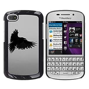"For BlackBerry Q10 Case , Cuervo Muerte profundo Escritura Naturaleza Pájaro"" - Diseño Patrón Teléfono Caso Cubierta Case Bumper Duro Protección Case Cover Funda"