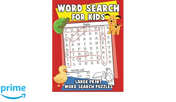 Word Search for Kids: Large Print Word Search Puzzles: A Coloring ...